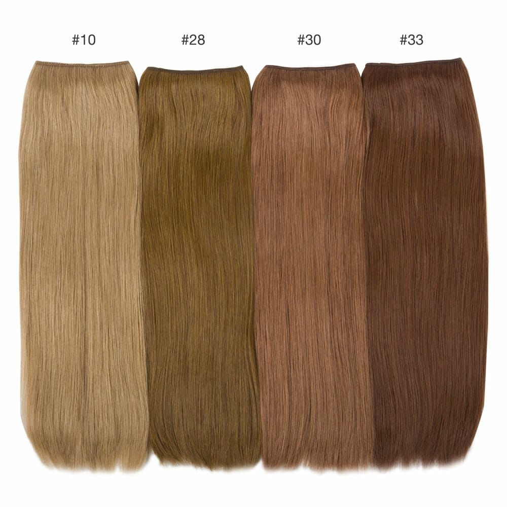 color comparisons hidden crown brunette