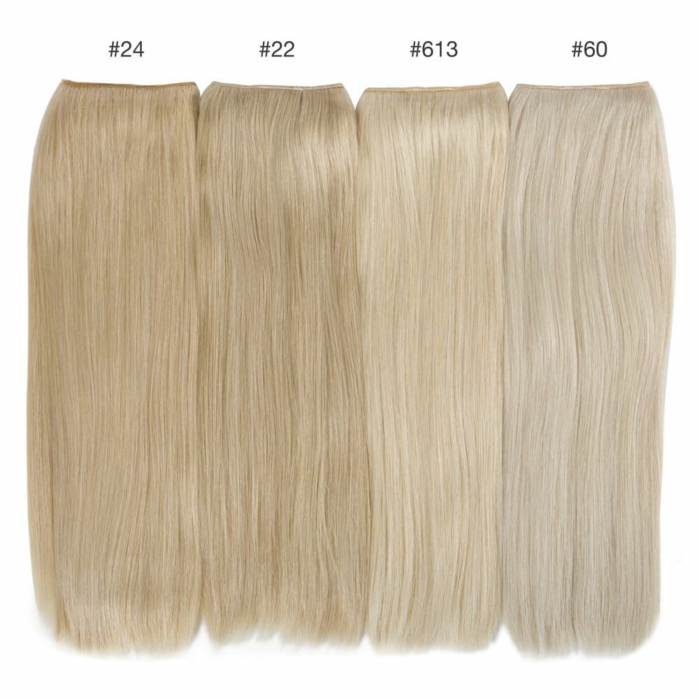 blonde color comparison hidden crown hair