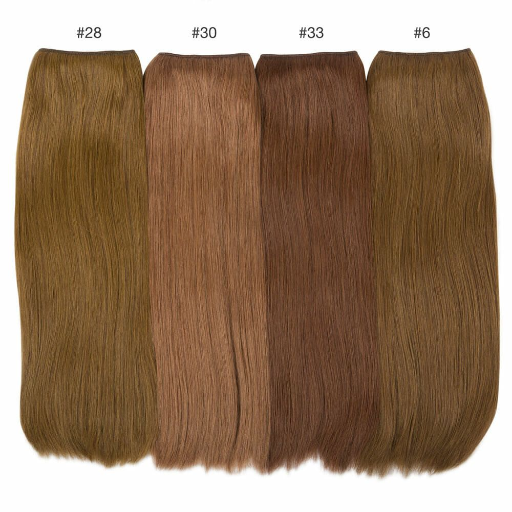 dark hair color comparisons hidden crown brunette