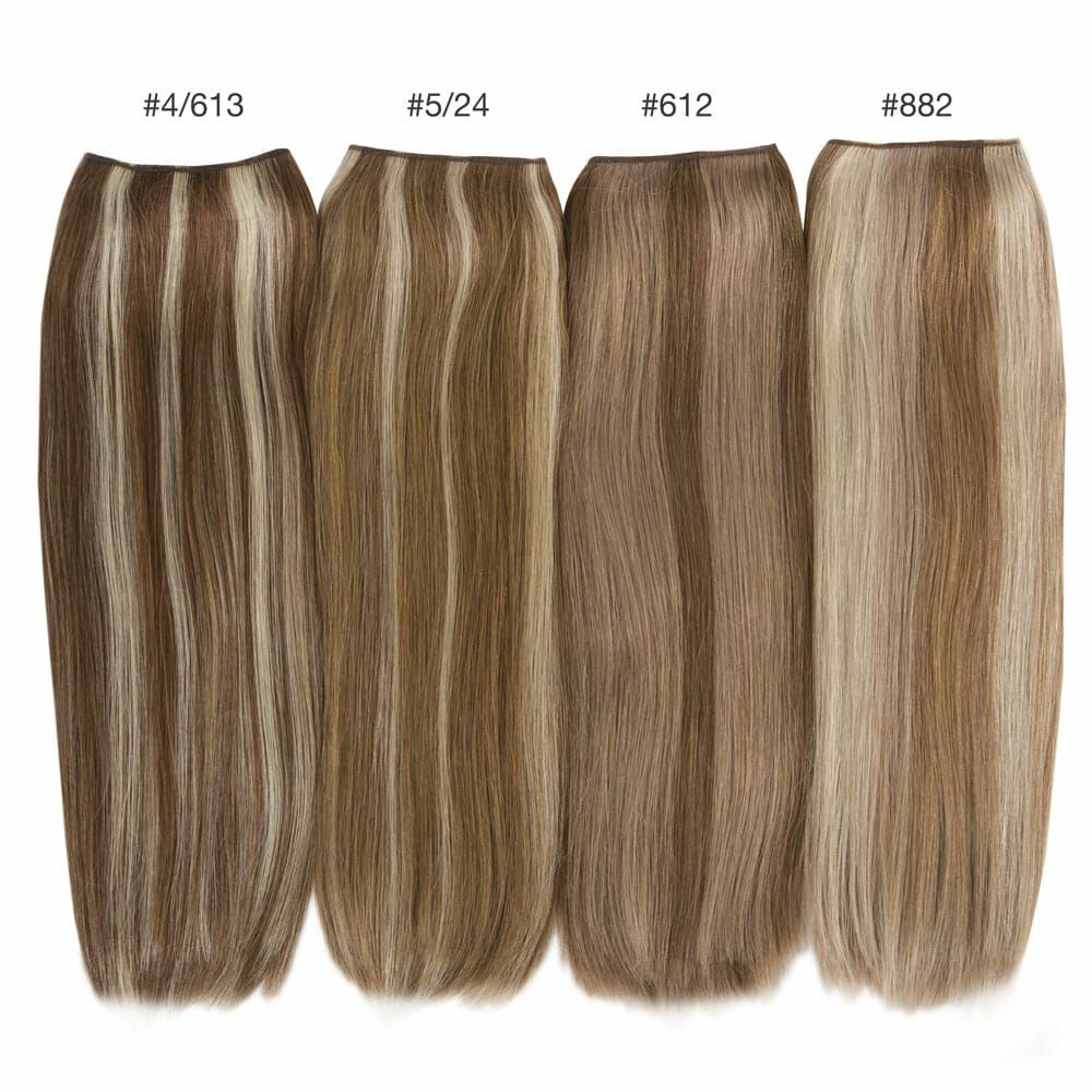 blend hair color comparisons hidden crown brunette