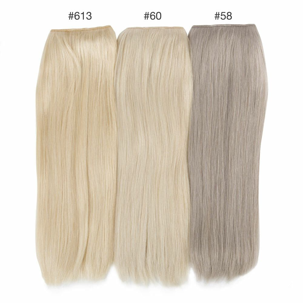 platinum blonde color comparison hidden crown hair