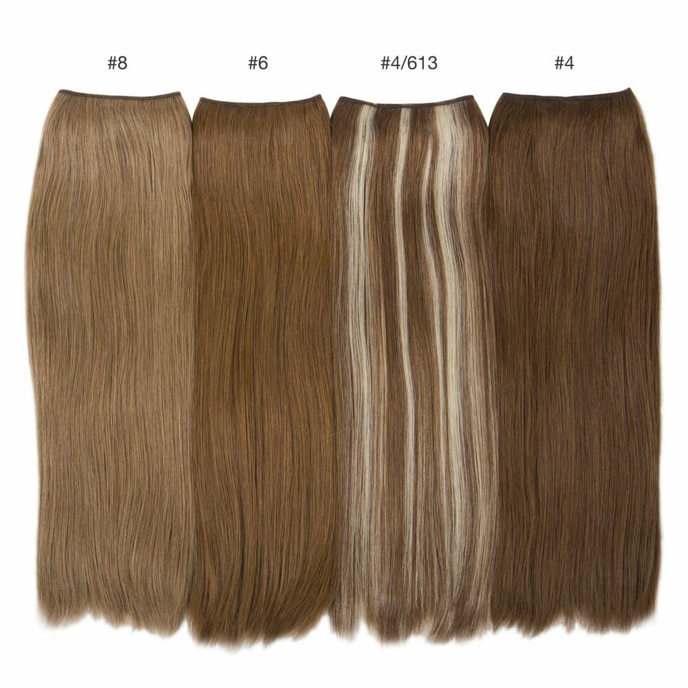 light brown hair color comparisons hidden crown brunette