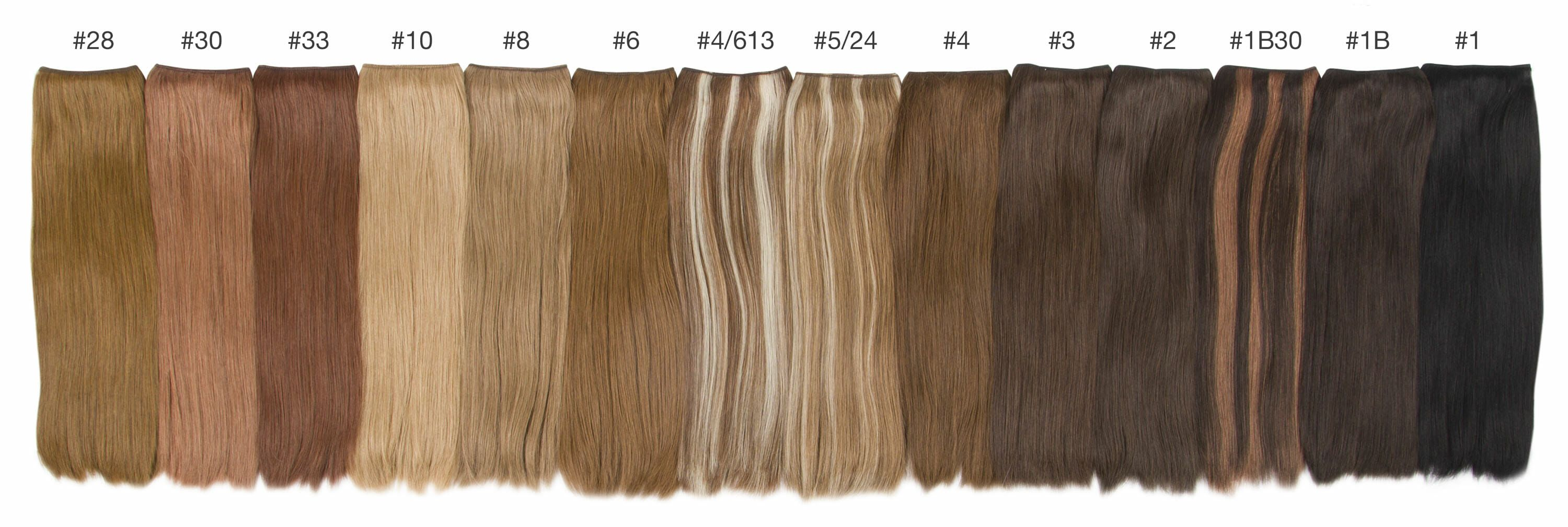 brunette color comparisons hidden crown hair