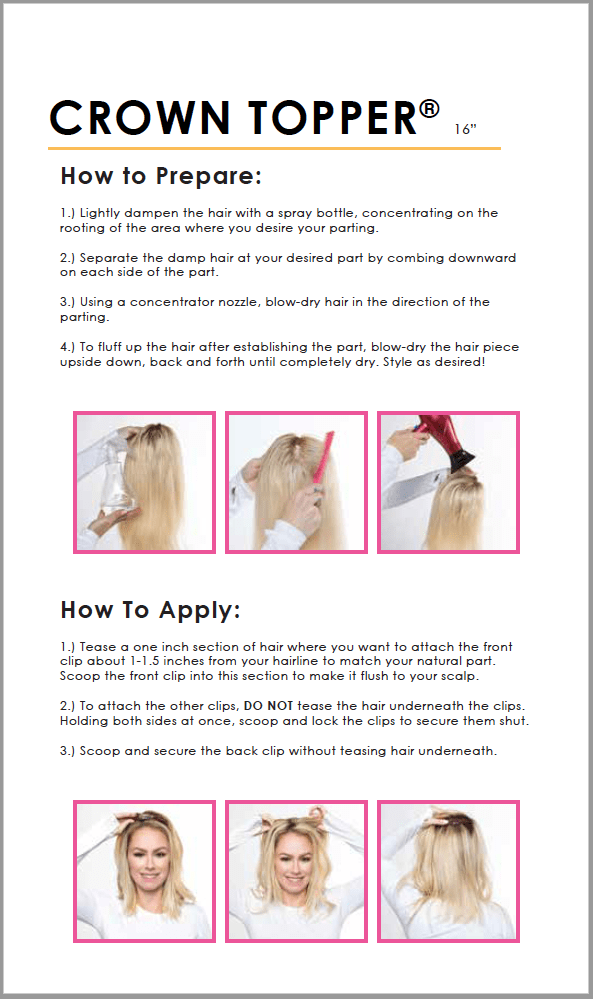 how to prepare the crown<sup>®</sup> topper hair extensions