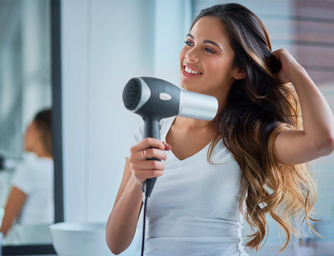 Protect hair from heated appliances and UV rays
