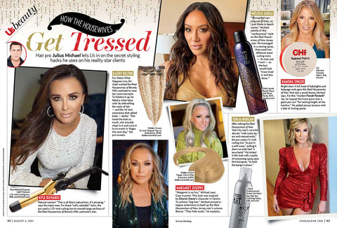 US Weekly Beauty Real Housewives glam squad hair secrets pro tips julius micheal hidden crown hair