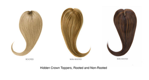 Hidden crown hair extensions toppers rooted non rooted