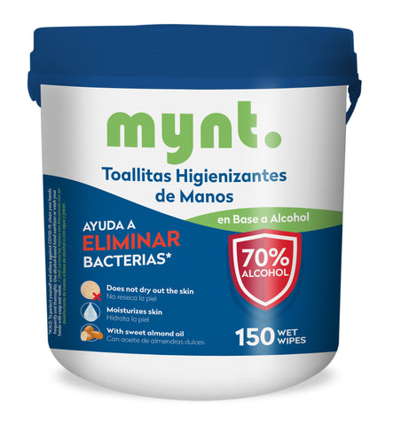 Wipes 70% Alcohol / Tarro 150 Unidades