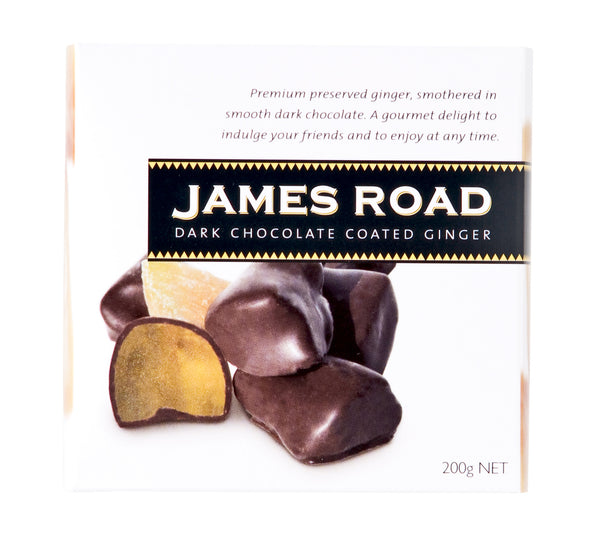 James Road Dark Chocolate Coated Ginger - 200g