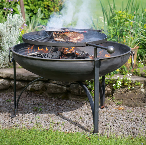 Plain Jane Firepit with Swing Arm BBQ