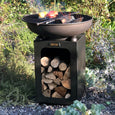 Firepit 60 with Log Store and Swing Arm BBQ
