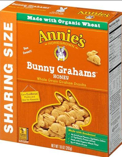 Annie's Homegrown Bunny Grahams Honey: 12 boxes