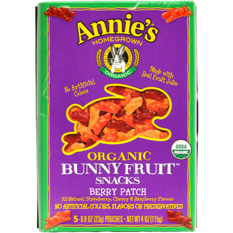 Annie's Homegrown Organic Berry Patch Bunny Fruit Snacks - 50 count