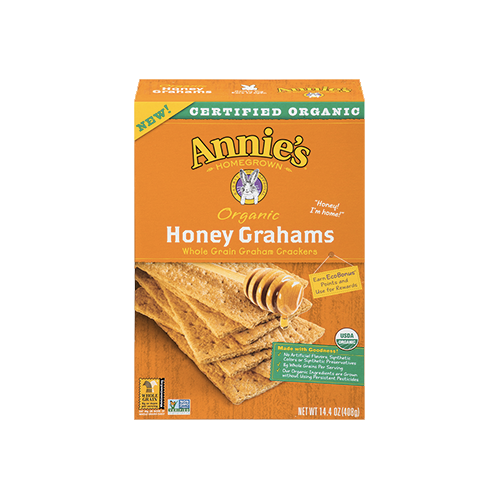 Annie's Homegrown Organic Whole Grain Honey Graham Crackers