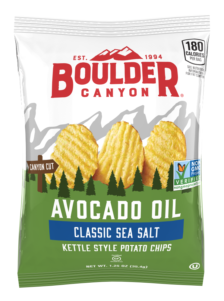 Boulder Canyon Avocado Oil Sea Salt Potato Chips - Snack Pack
