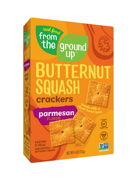 From the Ground Up Parmesan Butternut Squash Crackers