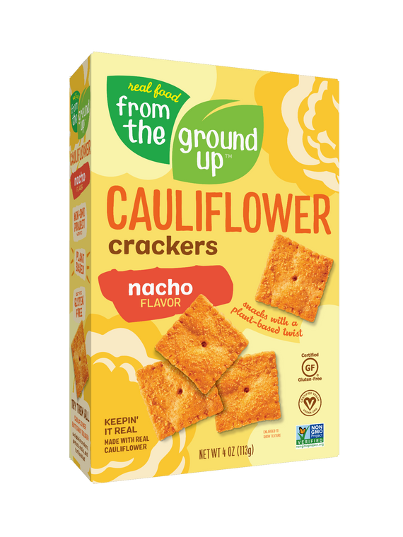 From the Ground Up Nacho Cauliflower Crackers