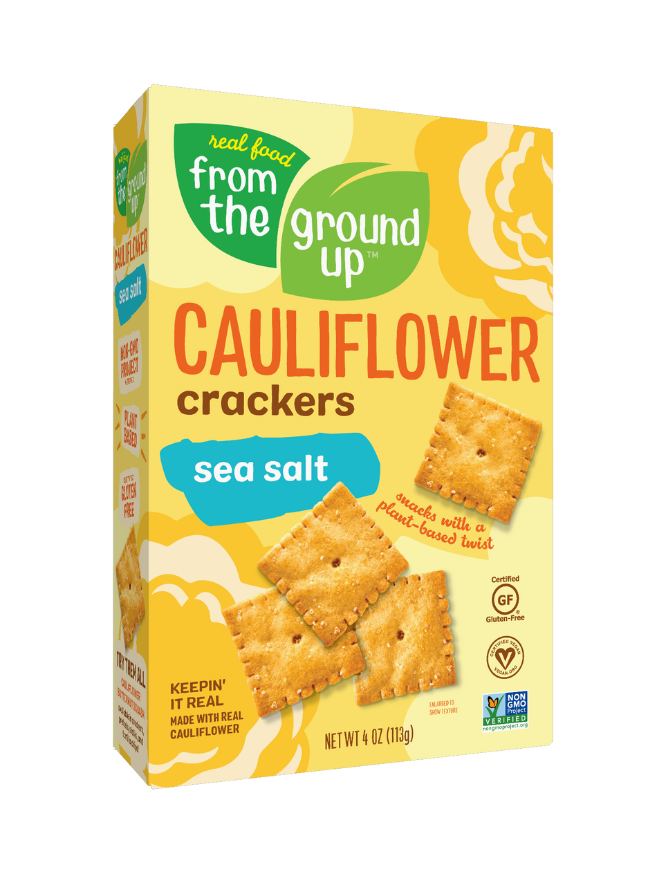 From the Ground Up Sea Salt Cauliflower Crackers