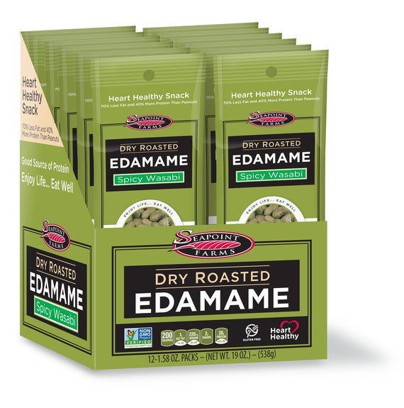 Seapoint Farms Dry Roasted Edamame Beans - Wasabi 1.58oz