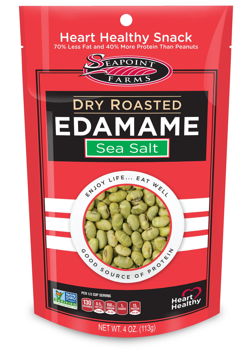 Seapoint Farms Dry Roasted Edamame - Lightly Salted 4oz