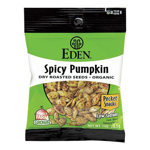 Eden Foods Dry Roasted Spicy Pumpkin Seeds - Snack Pack