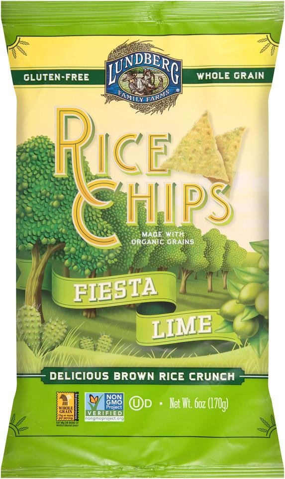 Lundberg Family Farms Multigrain Rice Chips Fiesta Lime
