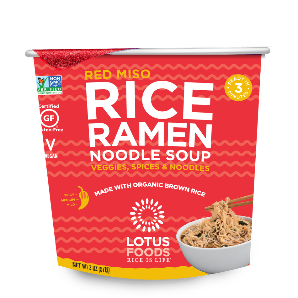 Lotus Foods Red Miso Rice Ramen Noodle Soup