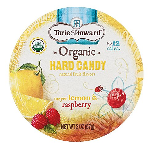 Torie & Howard Organic Hard Candy - Lemon & Raspberry