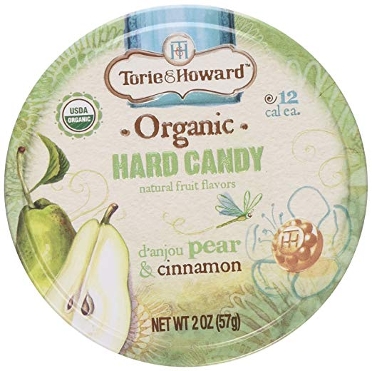 Torie & Howard Organic Hard Candy - Pear & Cinnamon