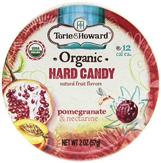 Torie & Howard Organic Hard Candy - Pomegranate & Nectarine