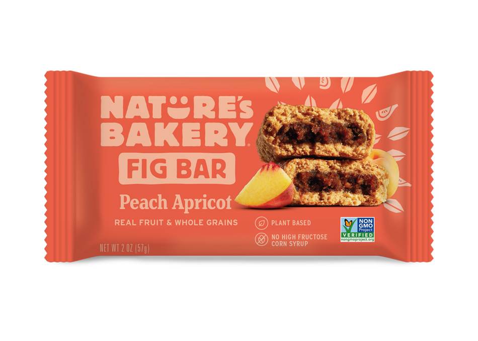 Nature's Bakery Stone Ground Whole Wheat Fig Bar - Peach Apricot: 12 bars