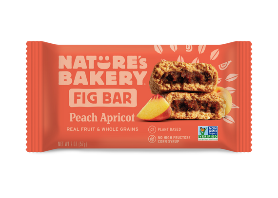 Nature's Bakery Stone Ground Whole Wheat Fig Bar - Peach Apricot: 36 bars
