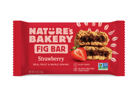 Nature's Bakery Stone Ground Whole Wheat Fig Bar - Strawberry: 12 bars