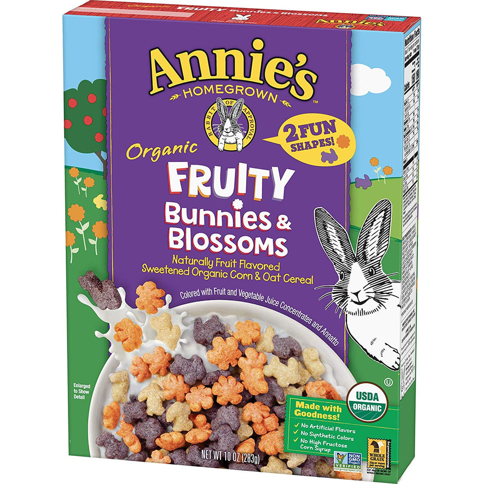 Annie's Organic Fruity Bunnies & Blossoms Cereal