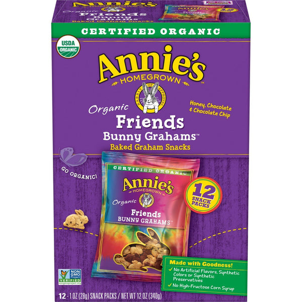 Annie's Homegrown Bunny Graham Friends 1oz - Snack Pack 48 count