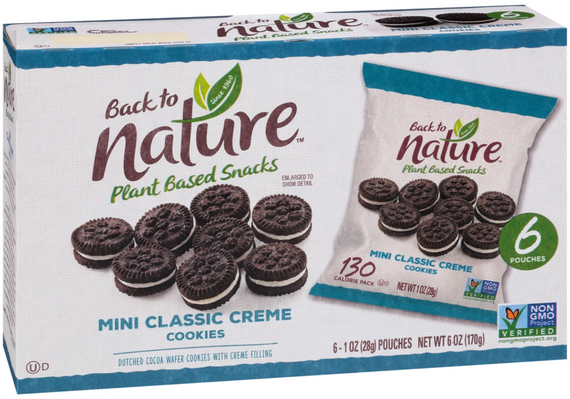 Back to Nature Mini Classic Creme Cookies - 24 Count