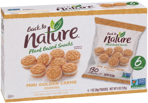 Back to Nature Mini Golden Creme Cookies - 24 Count