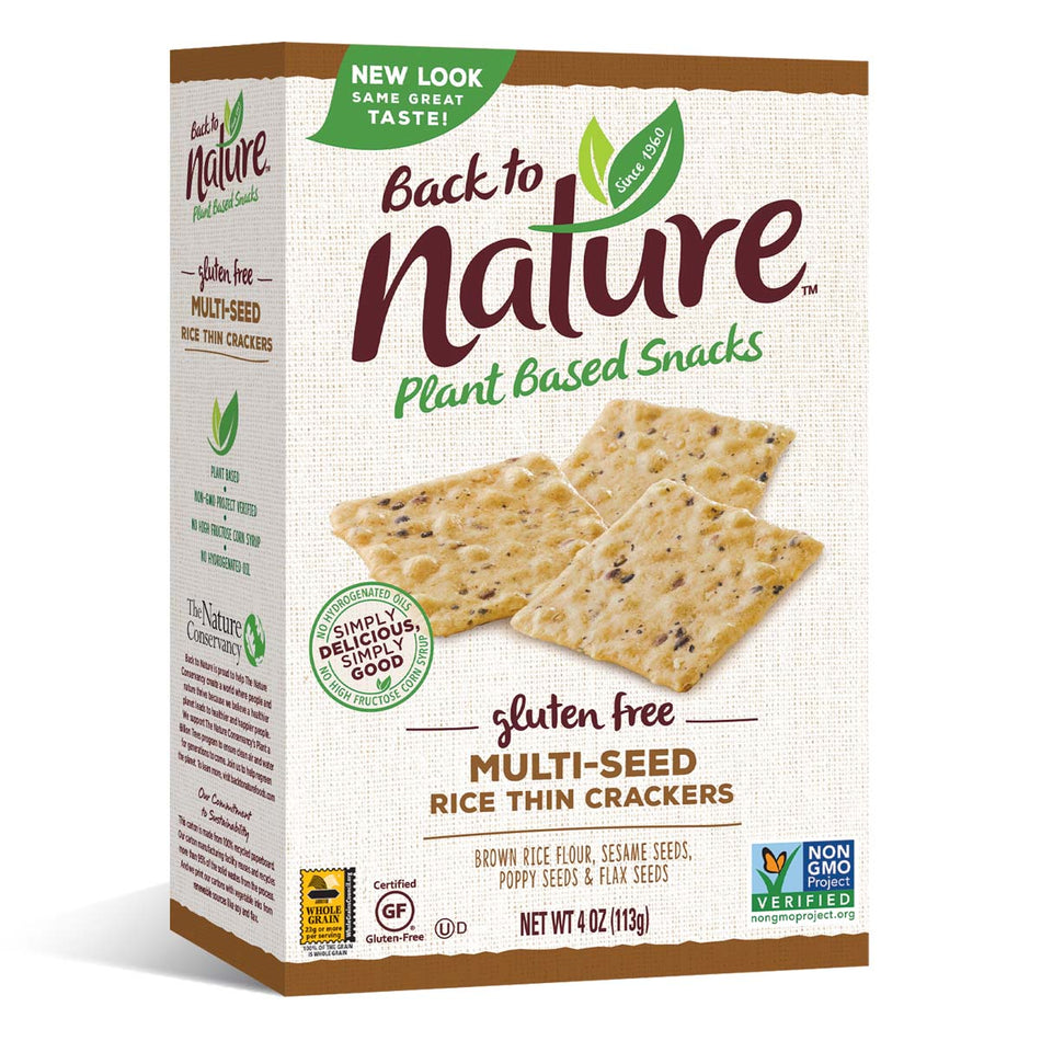 Back To Nature Multi-Seed Rice Thin Crackers (Gluten Free)