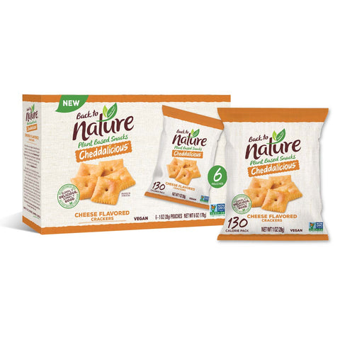Back To Nature Grab & Go Cheddalicious Crackers - 24 Count