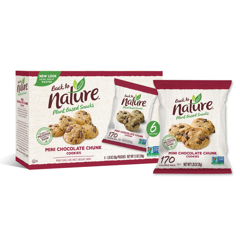 Back To Nature Grab & Go Mini Chocolate Chunk Cookies - 24 Count