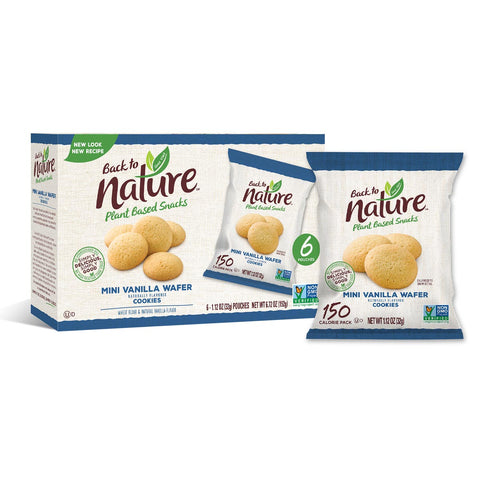 Back To Nature Grab & Go Mini Vanilla Wafers - 24 Count