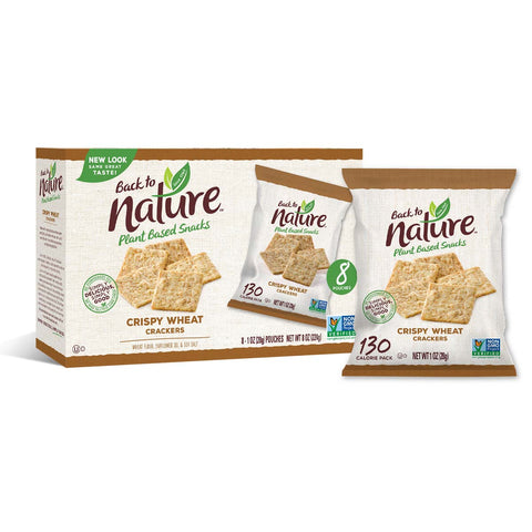 Back To Nature Grab & Go Crispy Wheat Crackers - 32 Count