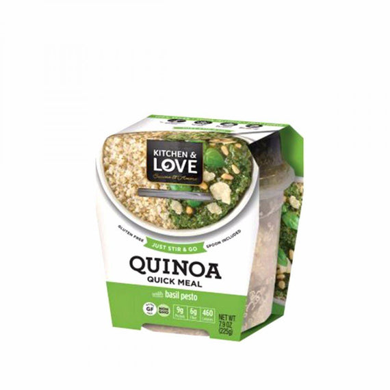 Kitchen & Love Quick Quinoa Meals - Basil Pesto