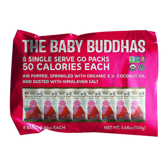Lesser Evil Himalayan Pink Buddha Bowl Organic Popcorn Snack Pack - 96 Count