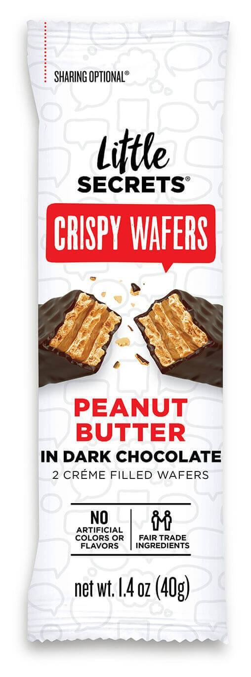 Little Secrets Dark Chocolate Peanut Butter Crispy Wafers