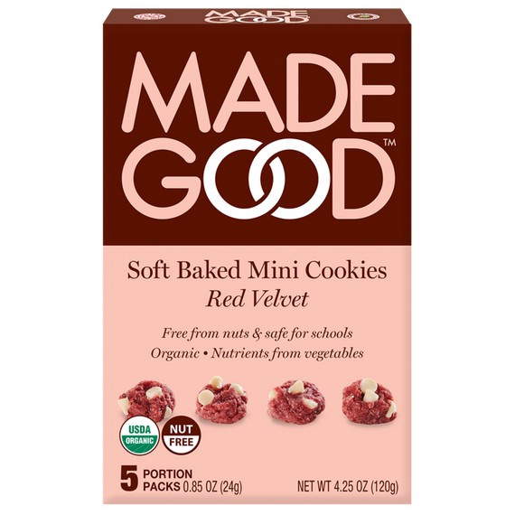 Made Good Red Velvet Soft Baked Mini Cookies