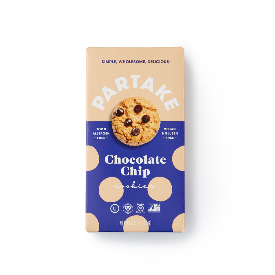 Partake Foods - Crunchy Chocolate Chip Cookies