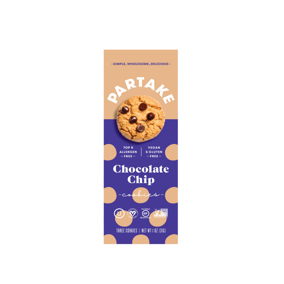 Partake Foods Chocolate Chip Cookies - Snack Pack (24 count)