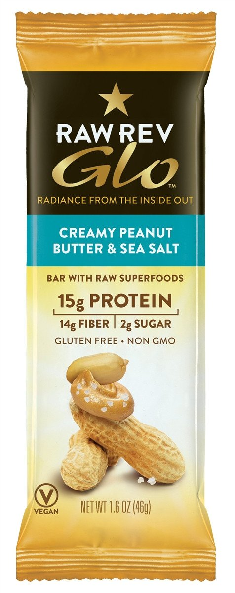 Raw Revolution Glo Creamy Peanut Butter & Sea Salt Bar