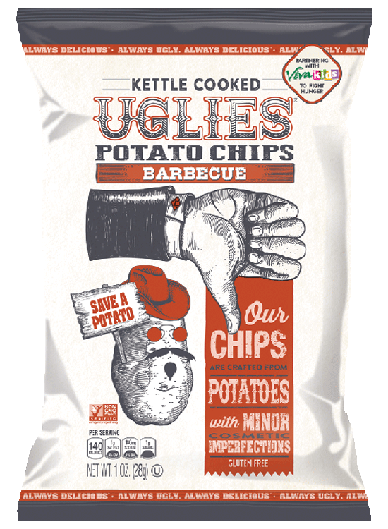 Uglies BBQ Kettle Cooked Potato Chips - Snack Pack (32 Count)